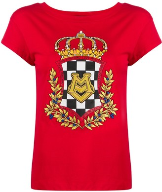 Love Moschino crest print T-shirt