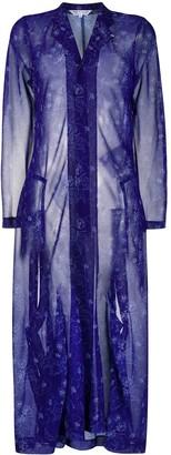 Comme des Garçons Comme des Garçons Sheer Floral-Print Coat