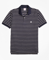 Brooks Brothers Slim Fit Two-Color Stripe Polo Shirt