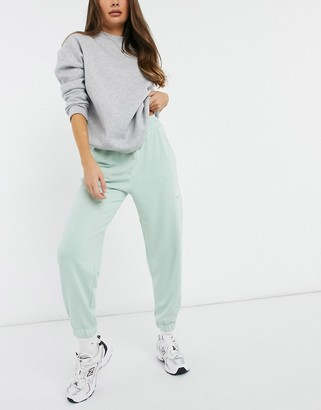 Bershka collegiate jogger co-ord in mint