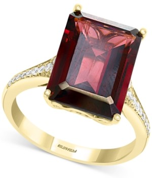 Effy Rhodolite Garnet (8-1/3 ct. t.w.) & Diamond (1/8 ct. t.w.) Ring in 14k Gold
