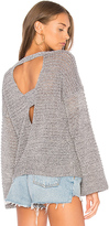 Feel The Piece Hoover Open Back Sweater in Gray