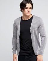 Asos Cardigan In Grey Twist