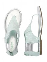 Justice Girls Jeweled T-Strap Sandals 7