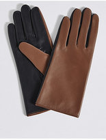 M&S Collection Leather Colour Block Gloves