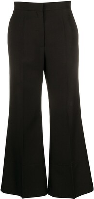 Loewe Stirrup Detail Cropped Trousers