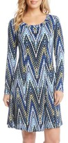 Karen Kane Women's Long Sleeve A-Line Dress