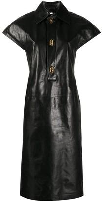 Bottega Veneta Leather Shirt Dress
