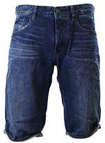 G Star Men's 3301 Tapered 1/2 Hadron Denim Short