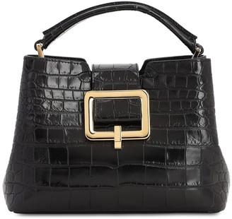 Bally Jorah Croc Embossed Leather Bag