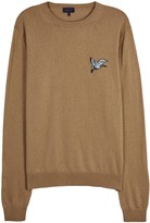 Lanvin Camel Embroidered Wool Blend Jumper