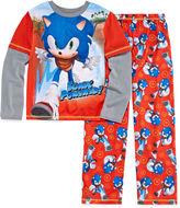 LICENSED PROPERTIES Boys Long Sleeve Sonic the Hedgehog Kids Pajama Set-Big Kid