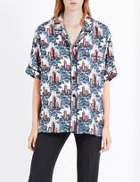 Burberry Castle-print silk pyjama shirt