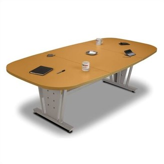 """Executive Racetrack/Oval 29.5""""H x 96""""W x 48""""L Conference Table OFM Base Finish: Black, Top Finish: Graphite"""
