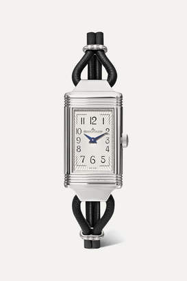 Jaeger-LeCoultre Jaeger Lecoultre Reverso One Cordonnet 16.3mm Stainless Steel, Leather And Diamond Watch - Silver