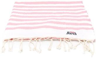 Mc2 Saint Barth Kids Striped Logo Beach Towel