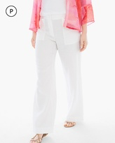 Chico's Linen Wide-Leg Pants in Optic White