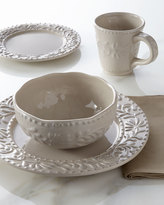 Horchow 16-Piece Taupe Bianca Leaf Dinnerware Service