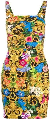 Versace Floral-Print Mini Dress