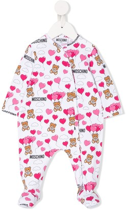 MOSCHINO BAMBINO Logo Bear Print Pyjamas