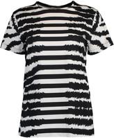 Escada Sport Eroka Short Sleeve Zebra Print Tee