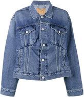 Balenciaga Swing denim jacket - women - Cotton - 34