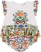 Dolce & Gabbana Infants' Maiolica-Print Cotton Bodysuit