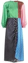 Tibi Delphina Shirred Midi Dress