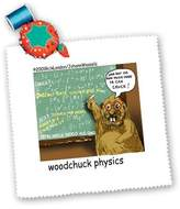 3dRose LLC qs_1443_1 Londons Times Funny Animals Cartoons - Woodchuck Physics - Quilt Squares