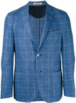 Corneliani woven check blazer - men - Linen/Flax/Cupro/Virgin Wool - 48