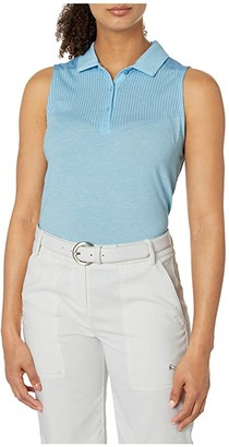 Puma Verticals Sleeveless Polo (Ethereal Blue Heather) Women's Clothing