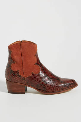 Anthropologie Dolly Western Ankle Boots