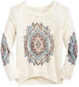 Jessica Simpson Draya Graphic-Print Sweater, Big Girls (7-16)