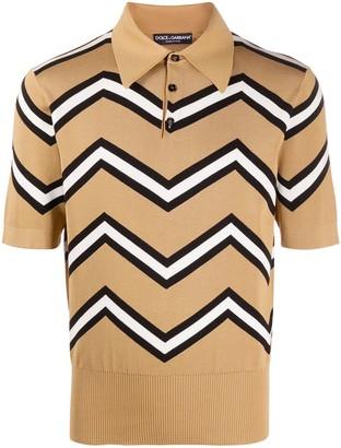 Dolce & Gabbana Zig-Zag Polo Shirt