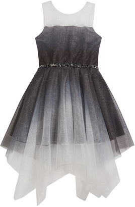 Zoe Girl's Suzy Ombre Shimmer Mesh Dress, Size 7-16