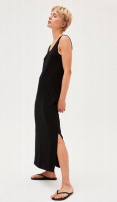 Armedangels Long Black Dress In Lenzing Madalenaa - L / Noir