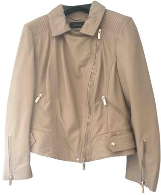 Karen Millen Beige Leather Jacket for Women