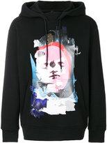 Versus face print hoodie