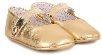 Emporio Armani Kids Laminated Ballerinas