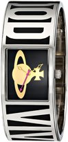 Vivienne Westwood Bond Women's Quartz Watch with Black Dial Analogue Display and Multicolour Stainless Steel Bangle VV084BK