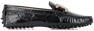 Tod's Chain Buckle Leather Loafers