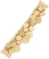 Kenneth Cole New York Gold-Tone Pavé Shaky Disc Mesh Bracelet