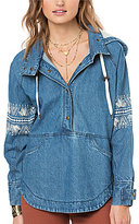 O'Neill Redwood Embroidered Sleeve Hoodie Pullover