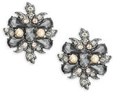 Nanette Lepore Pave Button Clip-On Earrings