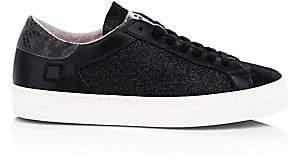 D.A.T.E Women's Curve Glitter Leather Sneakers