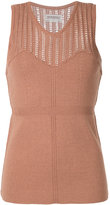 Theatre Products net trim knitted top