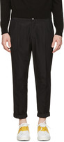 Dolce & Gabbana Black Pleated Trousers