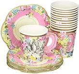 Talking Tables Truly Alice Alice in Wonderland Mad Hatter Party Cup Set with Handle and Saucers in 3 Designs for a Tea Party or Birthday