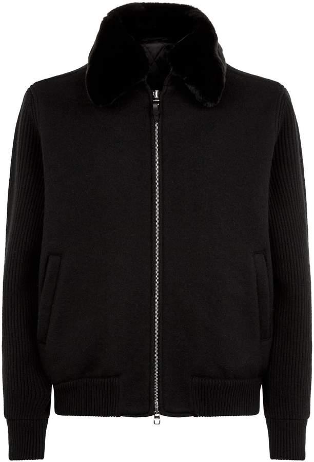 Dunhill Rabbit Fur Collar Jacket