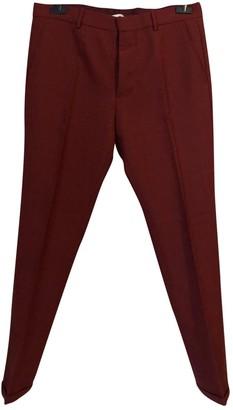 Marni Burgundy Wool Trousers
